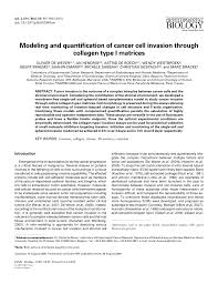 modeling and quantification of cancer cell invasion through