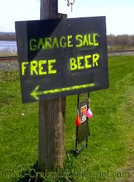 garage sale sign of the week free beer okc craigslist garage