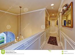 hall and upstairs in a house stock photo image 67726944