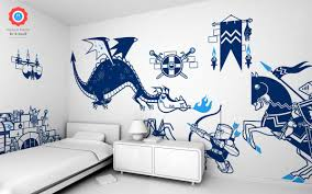 beautiful wall stickers for children s bedrooms by e glue knights and dragon kids wall decals