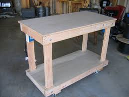 Work Bench Design Ideas To Paint Rolling Workbench Modern Table Design