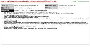 sample resumes for administrative assistant resume badak