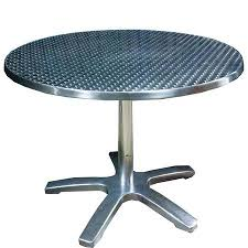 36 round cafe table round cafe titanium finish cafe table with chrome steel legs