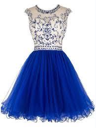 blue homecoming dress open back homecoming dress short