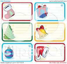 clipart of christmas gift or name tag labels of a stocking gift