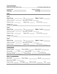 travel itinerary template free download create edit fill and print