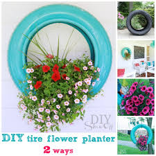 Flower Planter Ideas by 12 Tire Planter Ideas U2013 Make Beautiful Planters From Old Tires