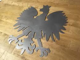 18 to 36 polish eagle steel home decor wall art