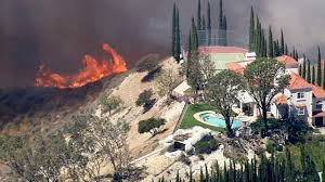 Fire In Los Angeles Today Map by Brush Fire Threatens Homes In Granada Hills Abc7 Com