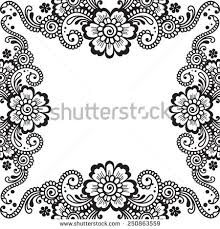 white flower frame lace ornament vector stock vector 246915421