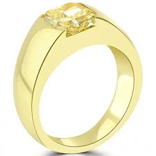 Cartier Wedding Rings by 3 25 Carat Cartier Natural Fancy Yellow Radiant Diamond Wedding