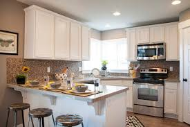 Small Kitchen With White Cabinets Small Kitchen With White Cabinets Sl Interior Design