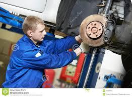 car suspension repair auto mechanic at car suspension repair work stock image image