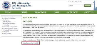 guide to receive uscis case updates via email and text message