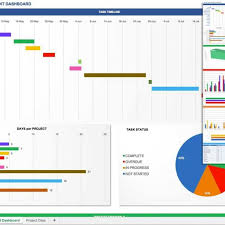 project status dashboard template excel free fern spreadsheet