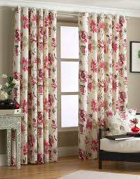 Vintage Eyelet Curtains Eyelet Floral Curtains Ringtop Pair Lined Raspberry By