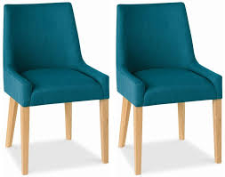Oak Dining Furniture Buy Bentley Designs Ella Oak Dining Chair Teal Scoop Back Pair