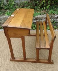 bureau ecolier en bois ancien bureau ecolier bois deux places avec encriers en porcelaine