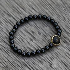 black onyx beads bracelet images Guan yin bodhisattva buddhist symbols black onyx women beaded JPG