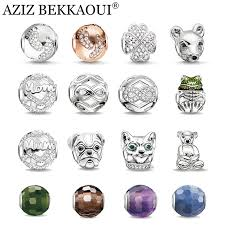 diy bracelet pandora beads images Diy charms crystal beads fit for diy bracelet necklace cute silver jpg