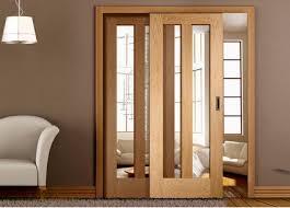 Oak Room Divider Interior Sliding Partition Doors