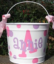 monogrammed easter buckets best custom easter baskets stunning personalized for kids at