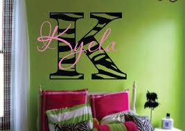 zebra print wall sticker home decor arrangement ideas cute