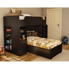 Full Size Bed With Desk Under Bedroom Creative L Shaped Bunk Beds For Comfortable Sleep