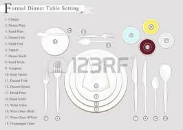 how to set a formal dinner table detailed illustration of a vintage hand drawn place setting formal