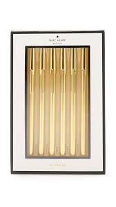 Kate Spade Home by Kate Spade New York Strike Pen Set Gold Women Accessories Home