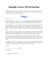 ideas of sample cover letter for seminar invitation with