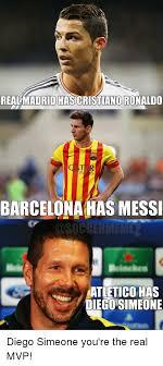 Cristiano Ronaldo Meme - realmadrid has cristiano ronaldo barcelona has messi atletico has