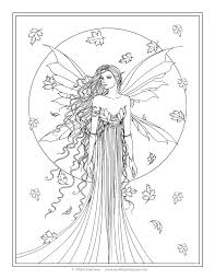 printable fantasy coloring pages for kids best fairy