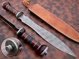 Damascus Steel Kitchen Knives Handmade Damascus Steel Sword Custom Kanata For Sale Ds 3