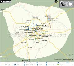 middle east map medina medina madinah map