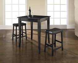 Wine Bar Table Furniture Simple Black Bar Table Set Mixed With A Wine Bottle