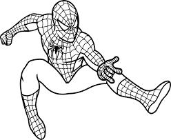 coloring marvelous spiderman print coloring