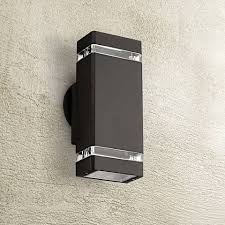 Outdoor Wall Sconce Up Down Lighting Possini Euro Rectangular Bronze Up Down Outdoor Wall Light