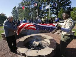 How To Dispose Of Old Flags Boy Scout Honors Veterans By Retiring Flags From Across Us News