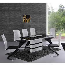 chaise noir et blanc ensemble table et chaise salle a manger 4 accueil table table et