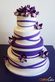 purple bands orchids wedding cake cmny cakes