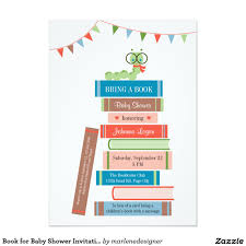book themed baby shower invitations best inspiration from