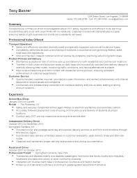 Delivery Driver Resume Example Bus Driver Resume Samples Sidemcicek Com