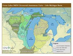Up Michigan Map Lake Michigan Basin Terrestrial Ecosystems Status And Trends