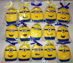 minion party minions minion cookies birthday party favors