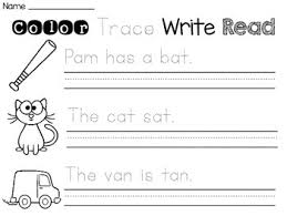 short vowels sentence writing worksheets by miss giraffe tpt