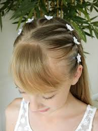 cute hairstyles for first communion first communion hairstyle 1 3 upside down pigtails headband