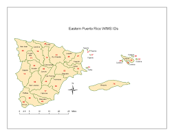 Puerto Rico Airport Map by Wims County Id Maps