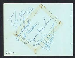 4x5 photo album the four aces signed autograph auto 4x5 album page al lou dave