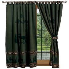 Curtains With Ties Moose Curtains Shop Everything Log Homes